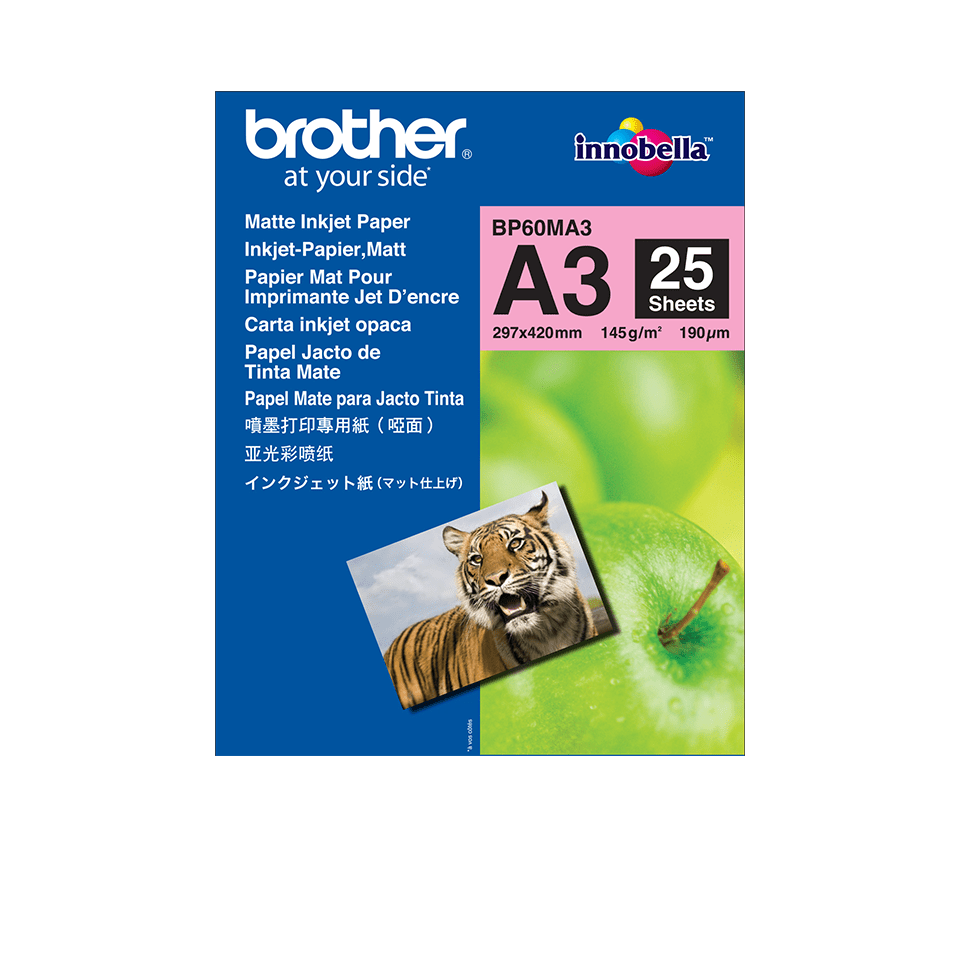 Origineel Brother BP-60MA3 A3 mat inkjetpapier.