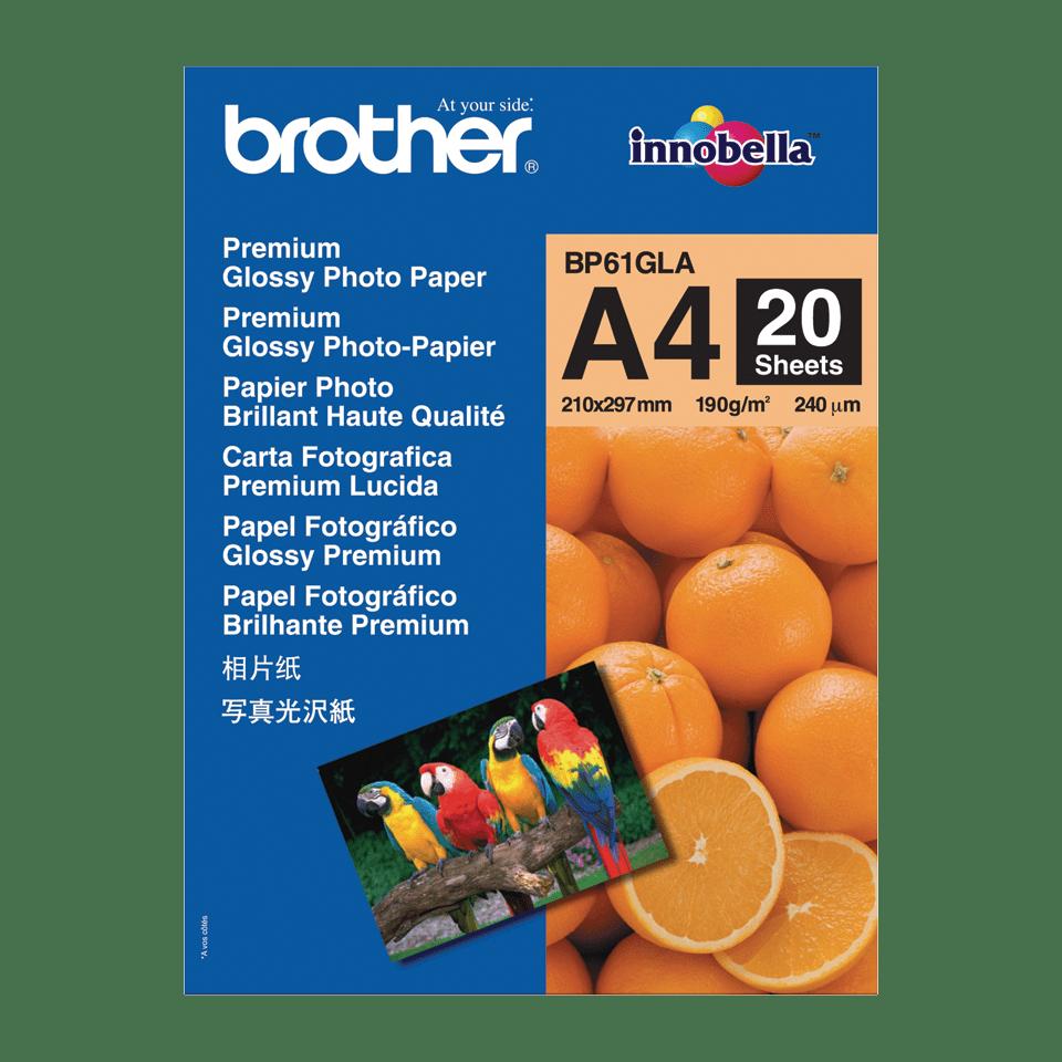 Origineel Brother BP-61GLA A4 glanzend fotopapier.