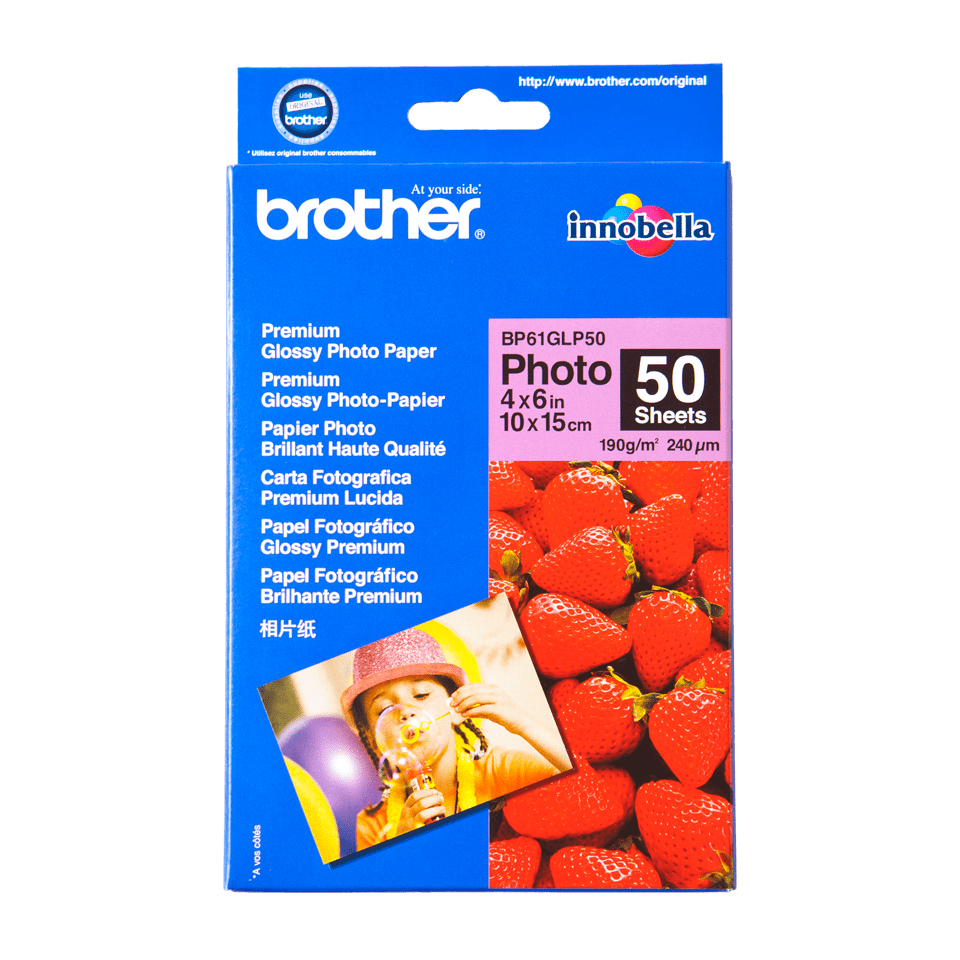Origineel Brother BP-61GLP50 glanzend fotopapier – 10 x 15 cm