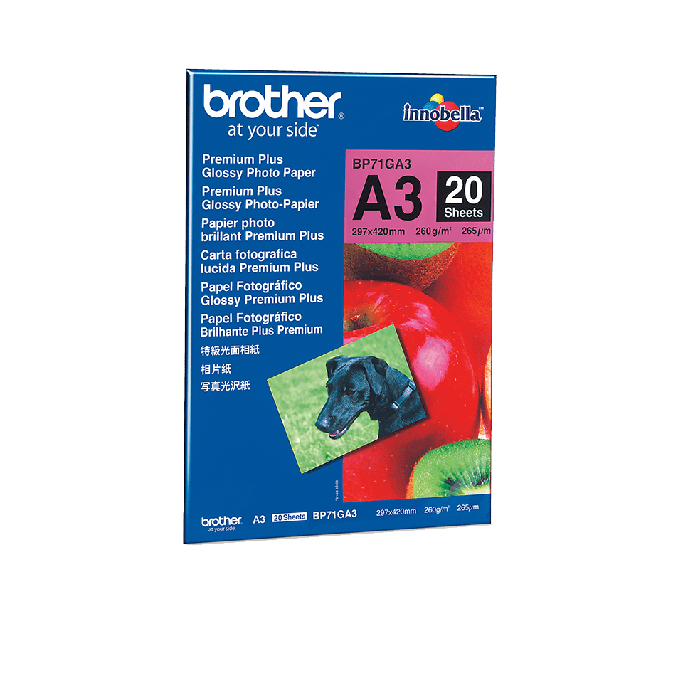 Origineel Brother BP-71GA3 A3 glanzend fotopapier.
