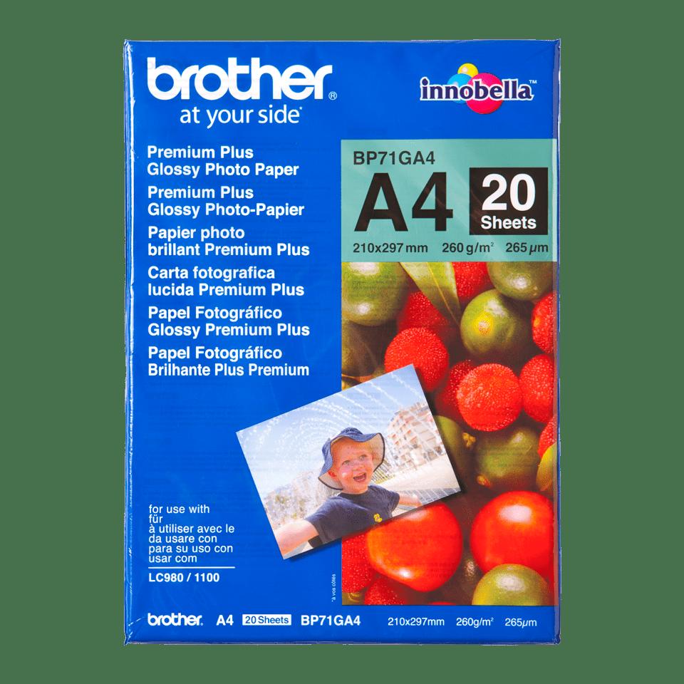 Origineel Brother BP-71GA4 A4 glanzend fotopapier.
