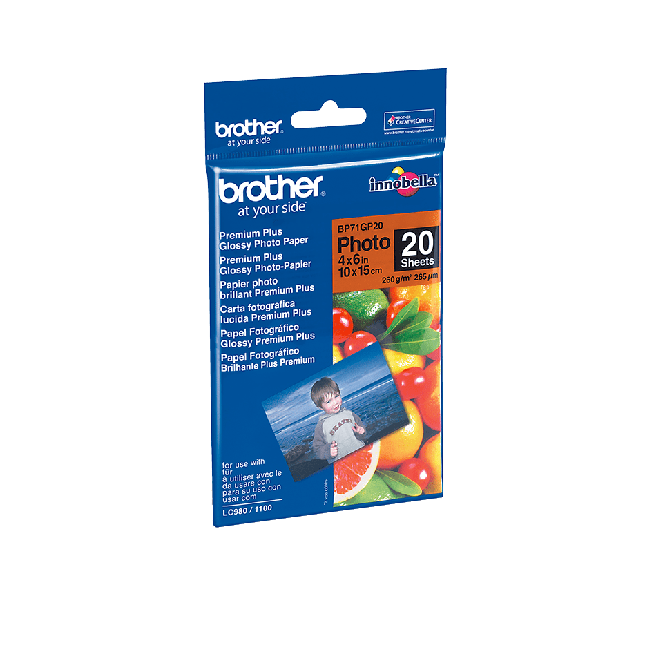 Origineel Brother BP71GP20 Glanzend Fotopapier – 10 x 15 cm