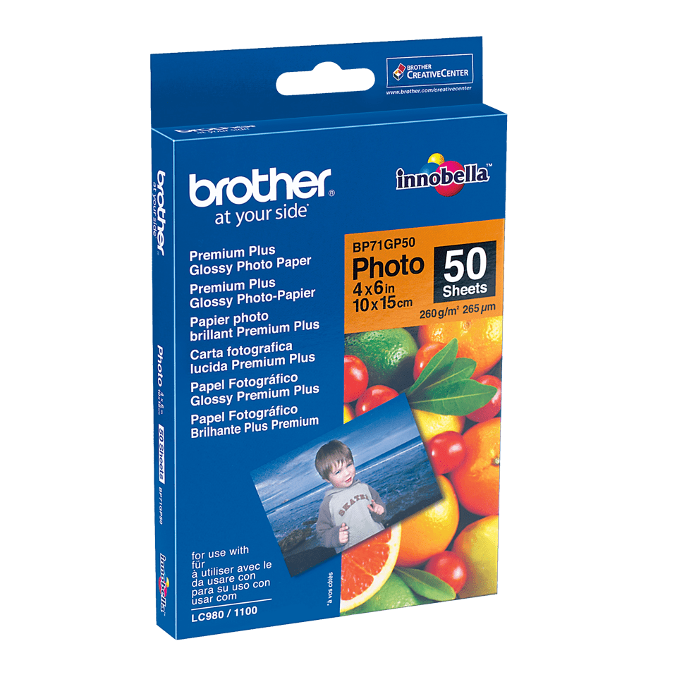 Origineel Brother BP-71GP50 glanzend fotopapier – 10 x 15 cm