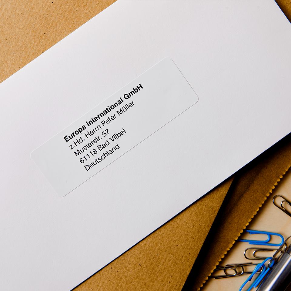 Originele Brother DK-11201 voorgestanst standaard adreslabel – papier -zwart op wit, 29 mm x 90 mm 2