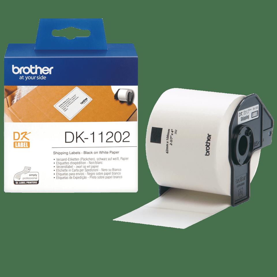 Originele Brother DK-11202 voorgestanst verzendlabel – papier - zwart op wit, 62mm x 100mm 3