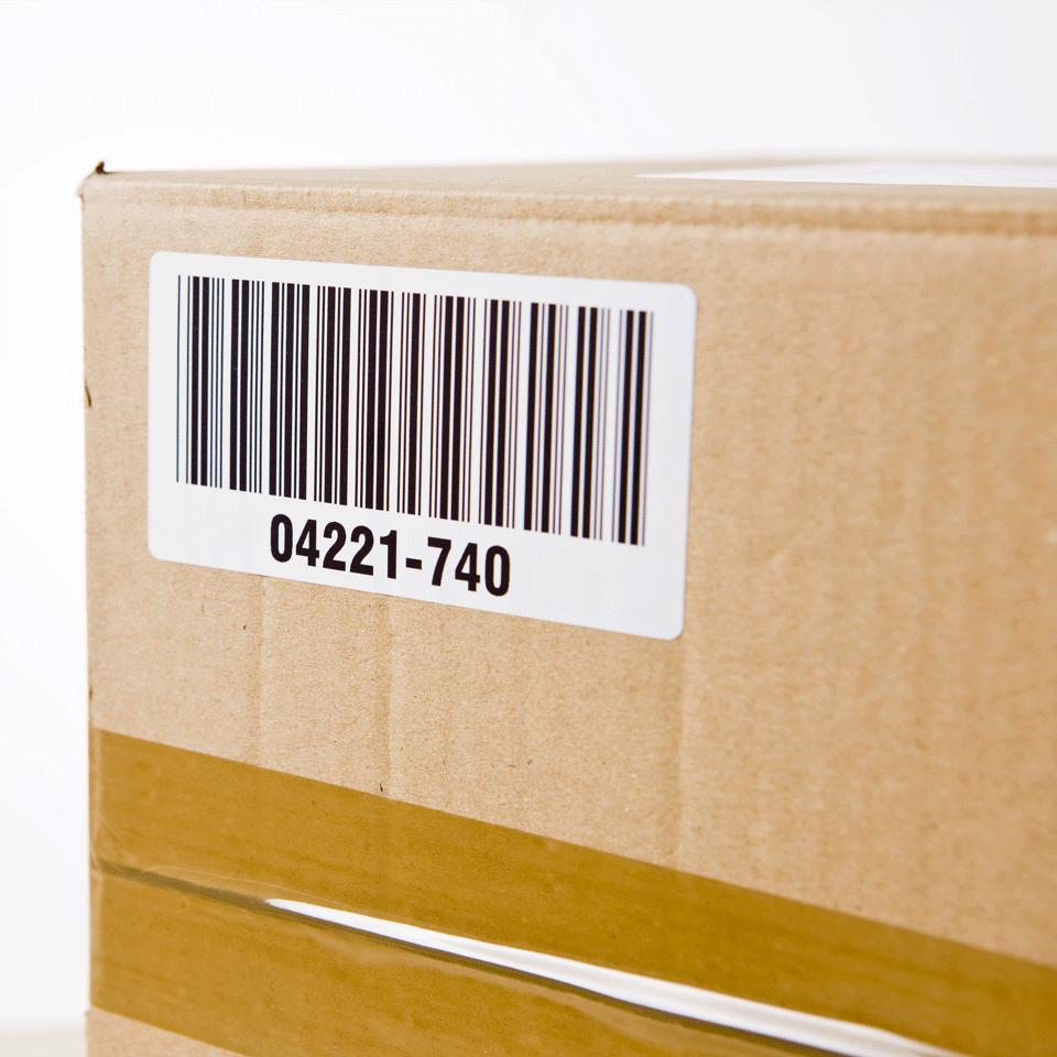 Originele Brother DK-11240 voorgestanst barcode label - papier – zwart op wit, 102 mm x 51 mm 2