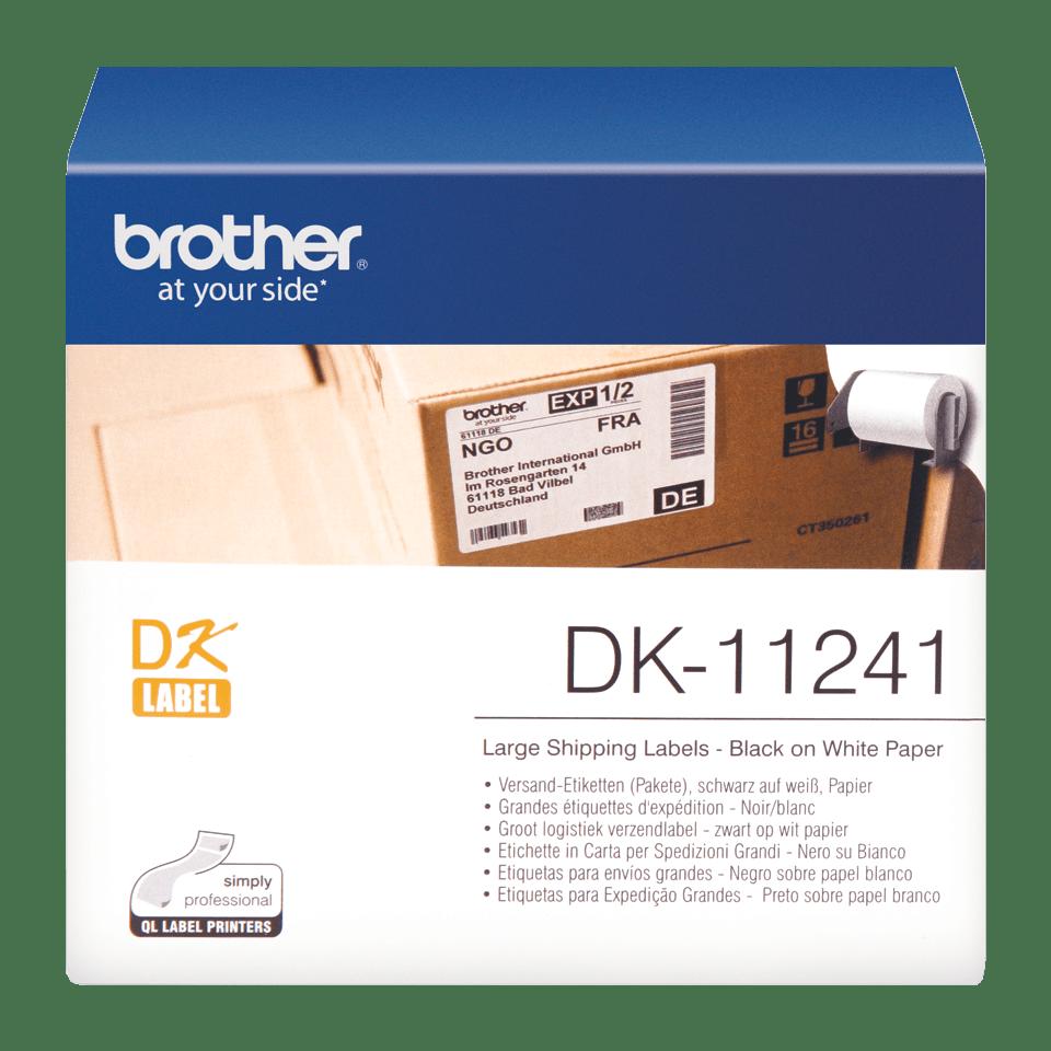 Originele Brother DK-11241 voorgestanst groot logistiek verzendlabel - papier - zwart op wit, 102 mm x 152 mm