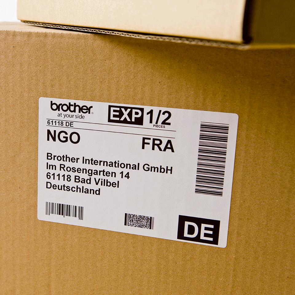 Originele Brother DK-11241 voorgestanst groot logistiek verzendlabel - papier - zwart op wit, 102 mm x 152 mm 2