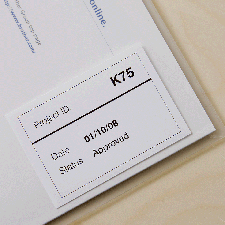 Originele Brother DK-22212 doorlopende labelrol – film -  zwart op wit, breedte 62 mm. 2