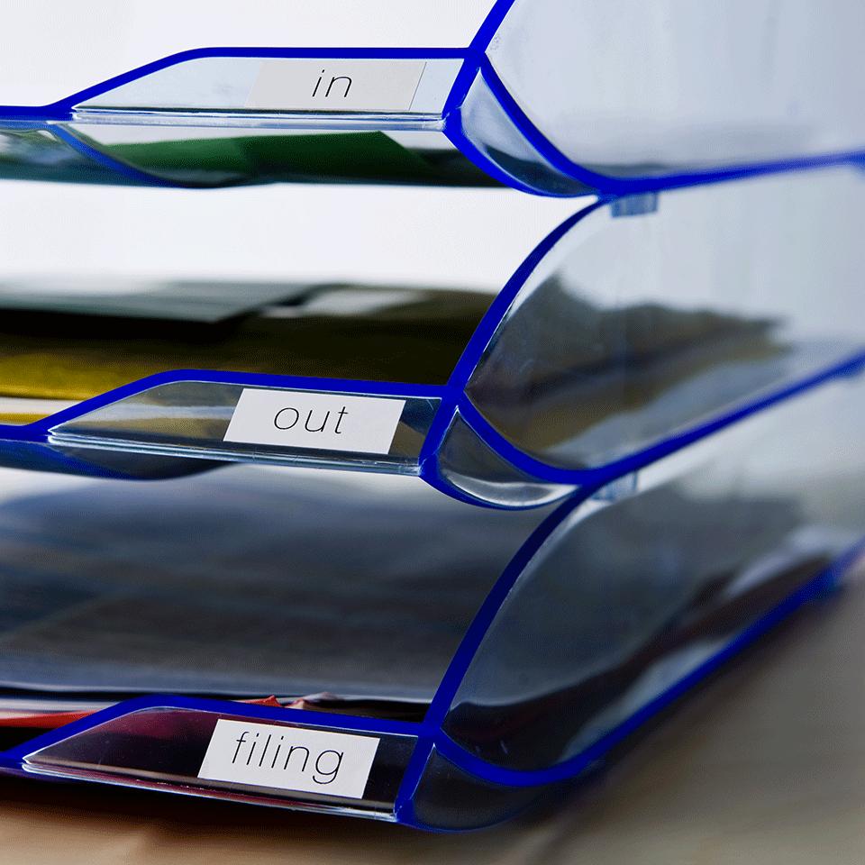 Originele Brother DK-22214 doorlopende labelrol - papier – zwart op wit, breedte 12 mm 2