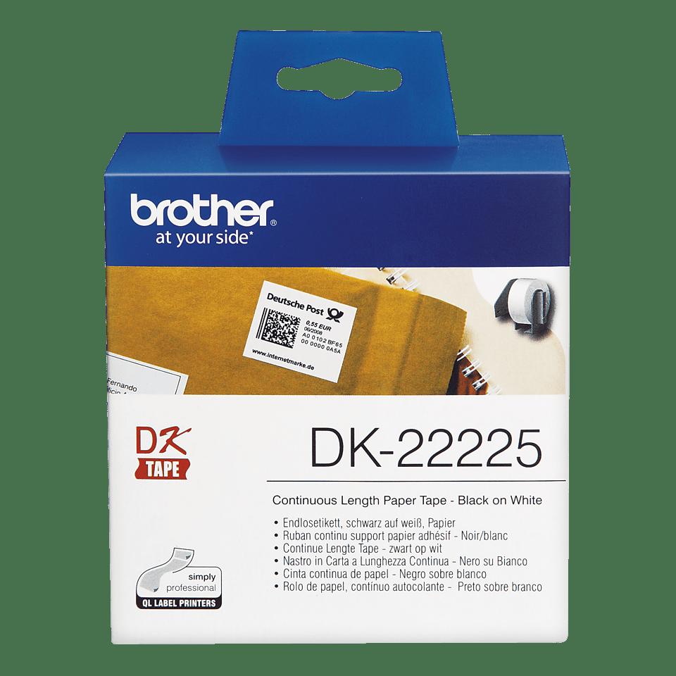 Originele Brother DK-22225 doorlopende labelrol - papier – zwart op wit, breedte 38 mm 2