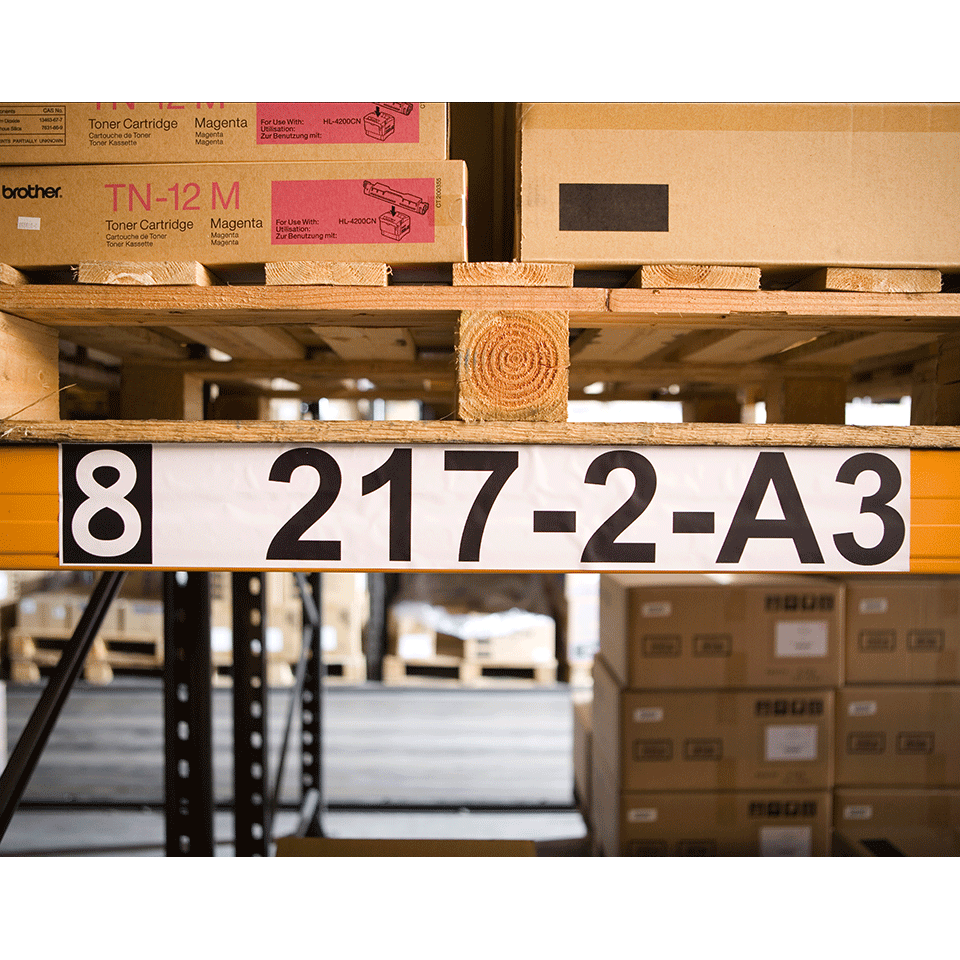 Originele Brother DK-22243 doorlopende labelrol - papier – zwart op wit, breedte 102 mm 2