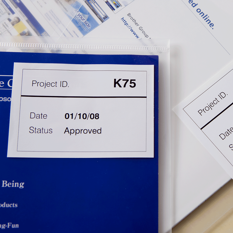 Originele Brother DK-44205 doorlopende labelrol - papier, verwijderbaar – zwart op wit, breedte 62 mm 2