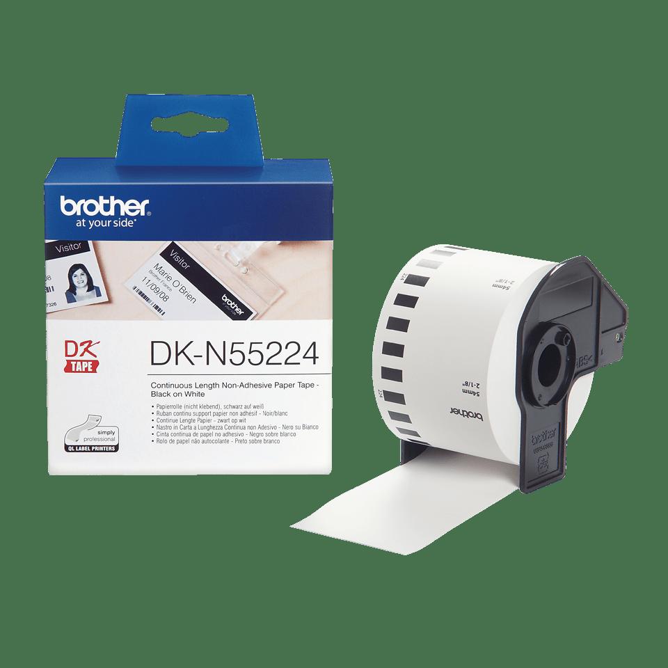 Originele Brother DK-N55224 doorlopende labelrol - papier, niet klevend - zwart op wit, breedte 54 mm 3