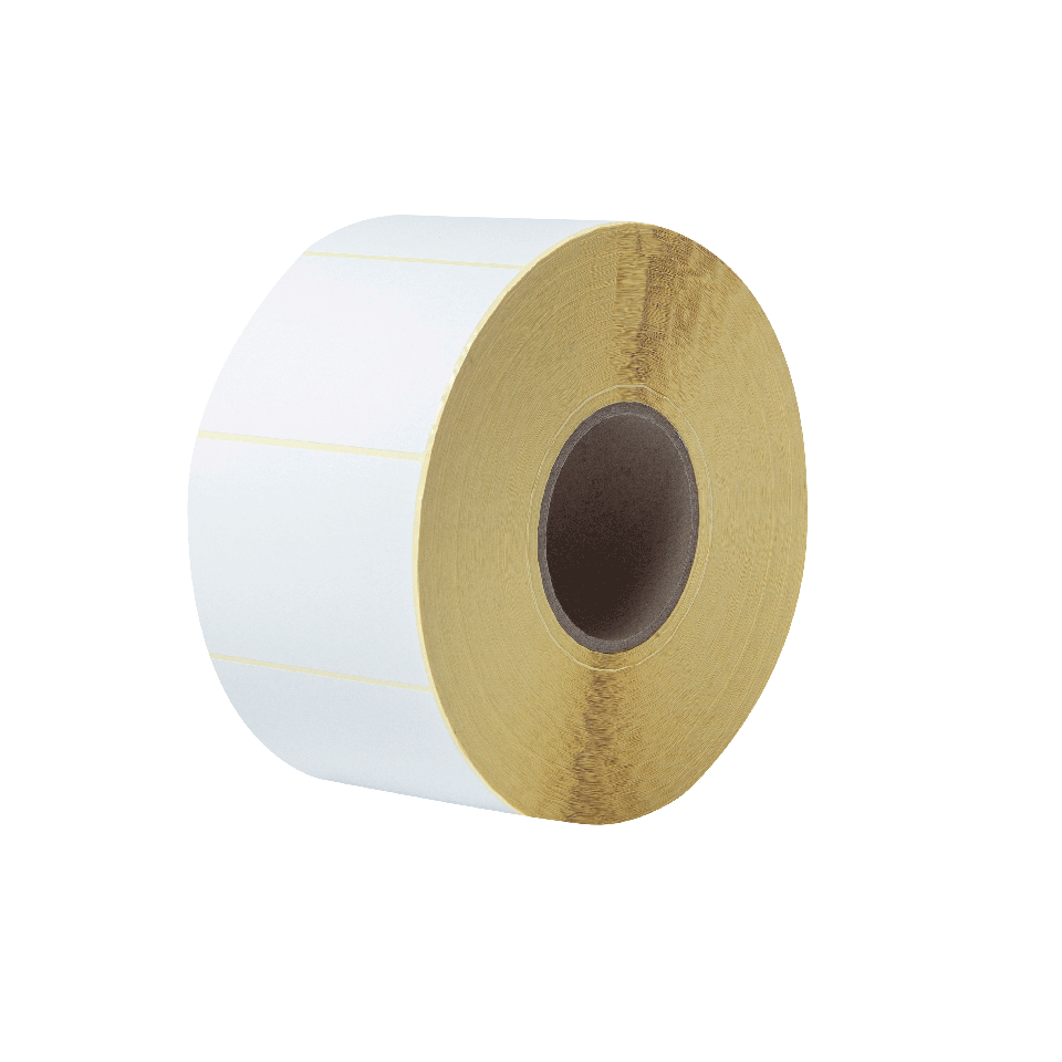 BUS-1J074102-203 Voorgestanste, thermo-transfer labelrol – ongecoat wit