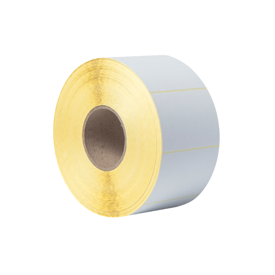 BUS-1J074102-203 Voorgestanste, thermo-transfer labelrol – ongecoat wit  3