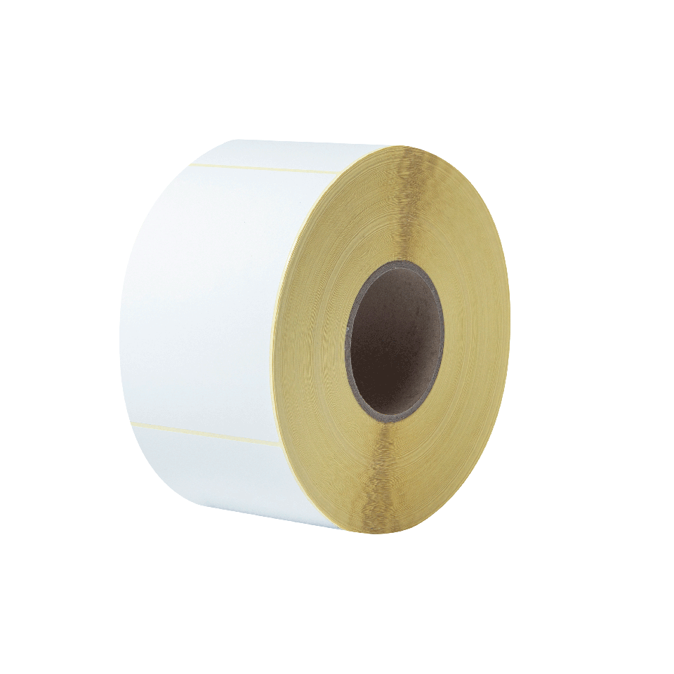 BUS-1J150102-203 Voorgestanste, thermo-transfer labelrol – ongecoat wit