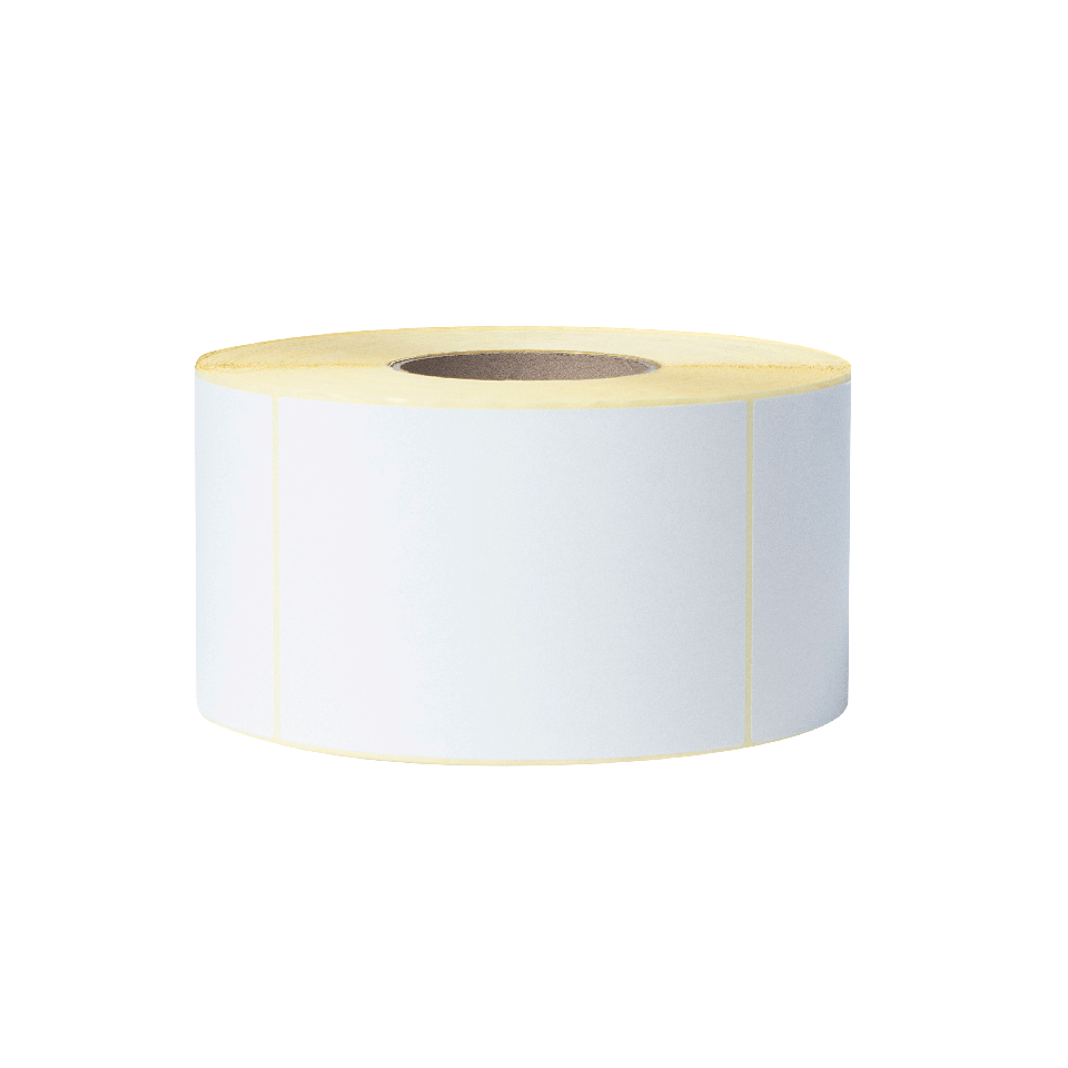 BUS-1J150102-203 Voorgestanste, thermo-transfer labelrol – ongecoat wit  2