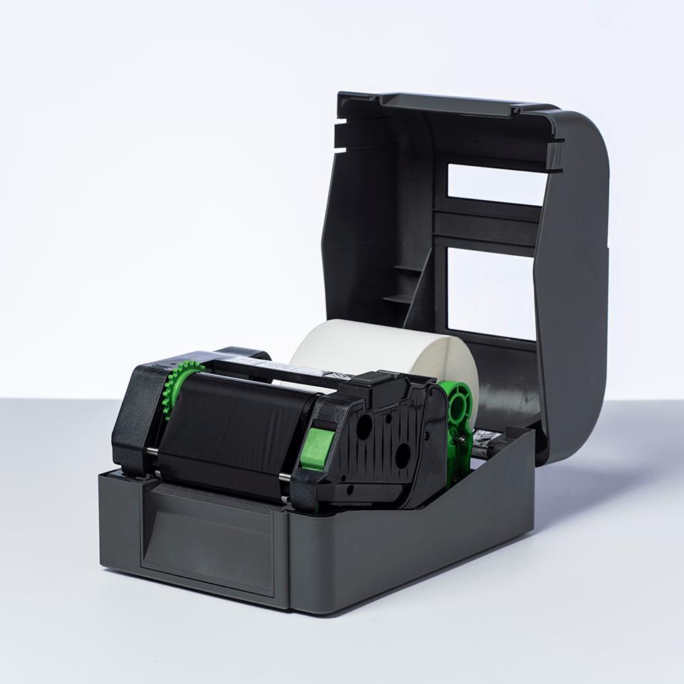 BRS-1D300-110 Thermo-transferrol met standaard hars, zwart   2