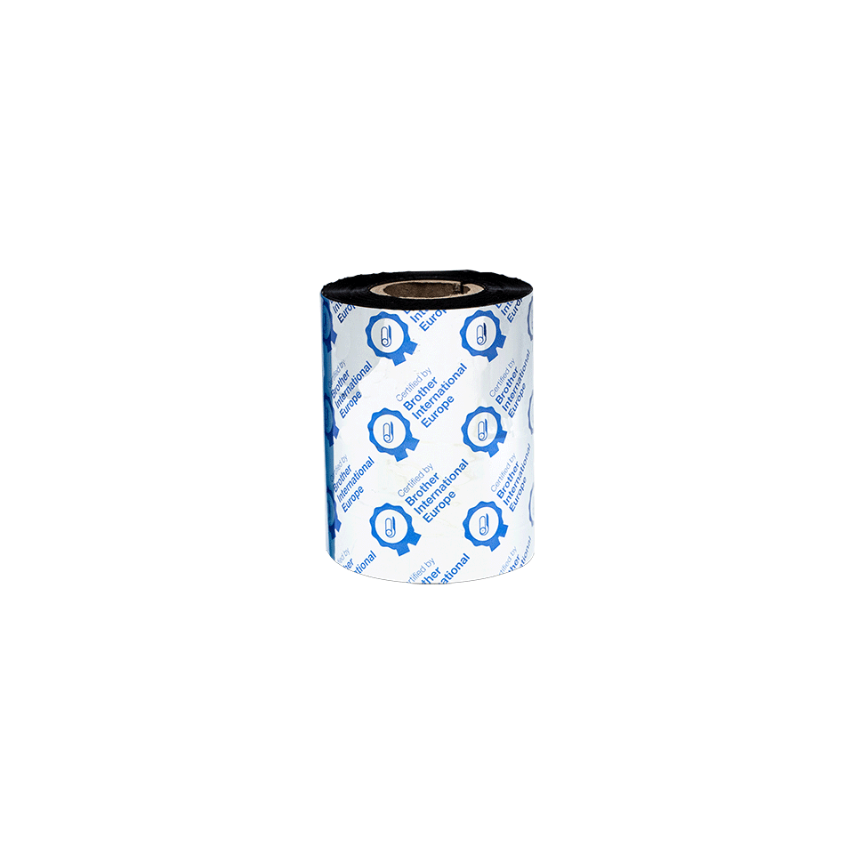 BWS-1D300-080 Thermo-transferrol met standaard wax, zwart 3