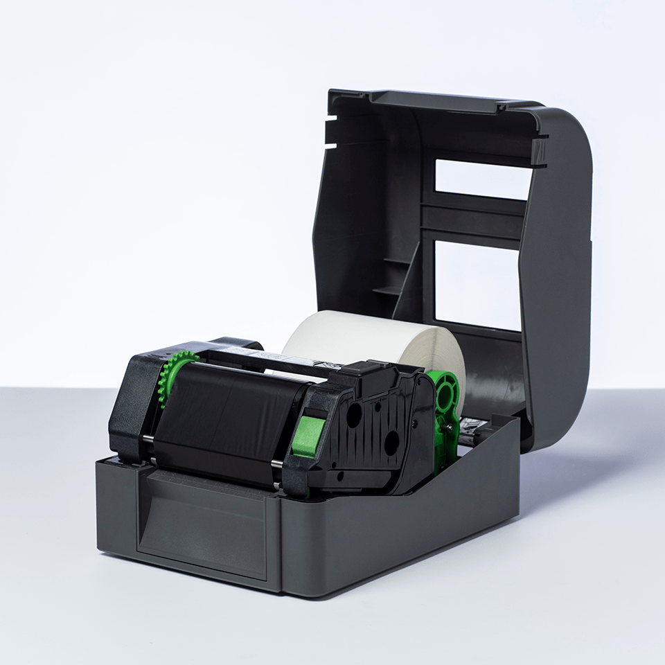 BWS-1D300-110 Thermo-transferrol met standaard wax, zwart 2