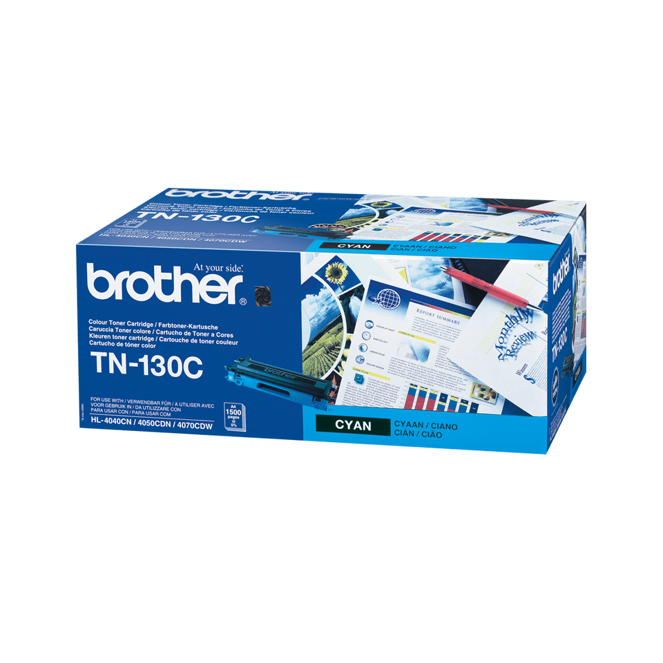 Originele Brother TN-130C cyaan tonercartridge 2