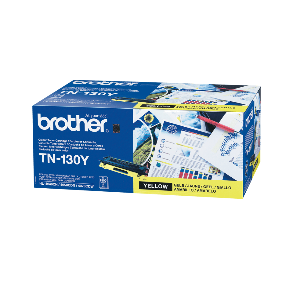 Originele Brother TN-130Y gele tonercartridge 2