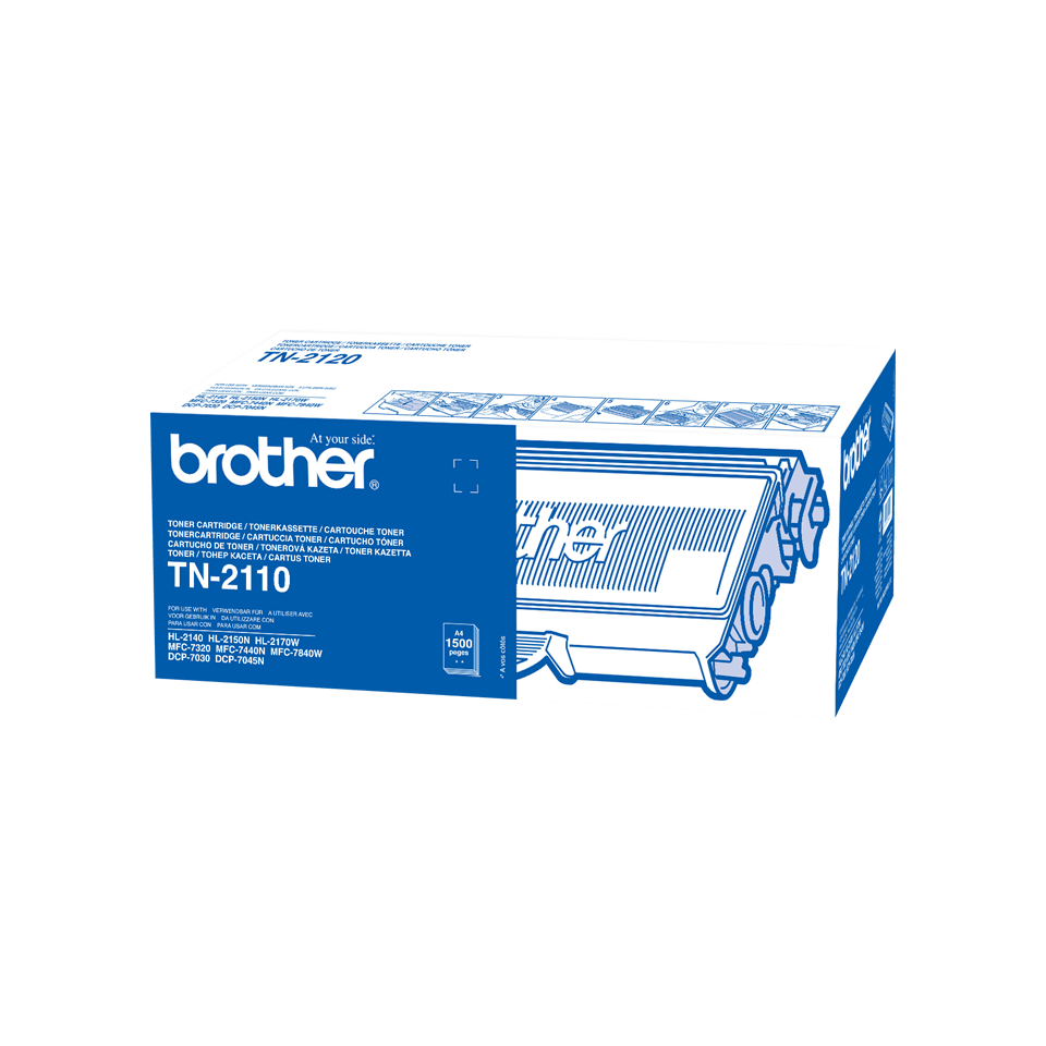 Originele Brother TN-2110 zwarte tonercartridge