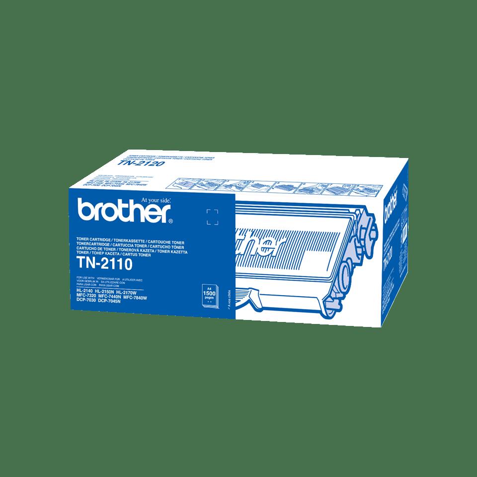 Originele Brother TN-2110 zwarte tonercartridge 2