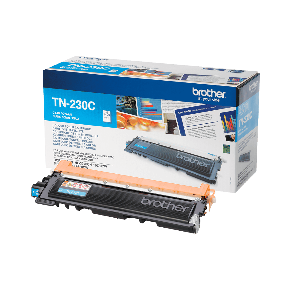 Originele Brother TN-230C cyaan tonercartridge 2