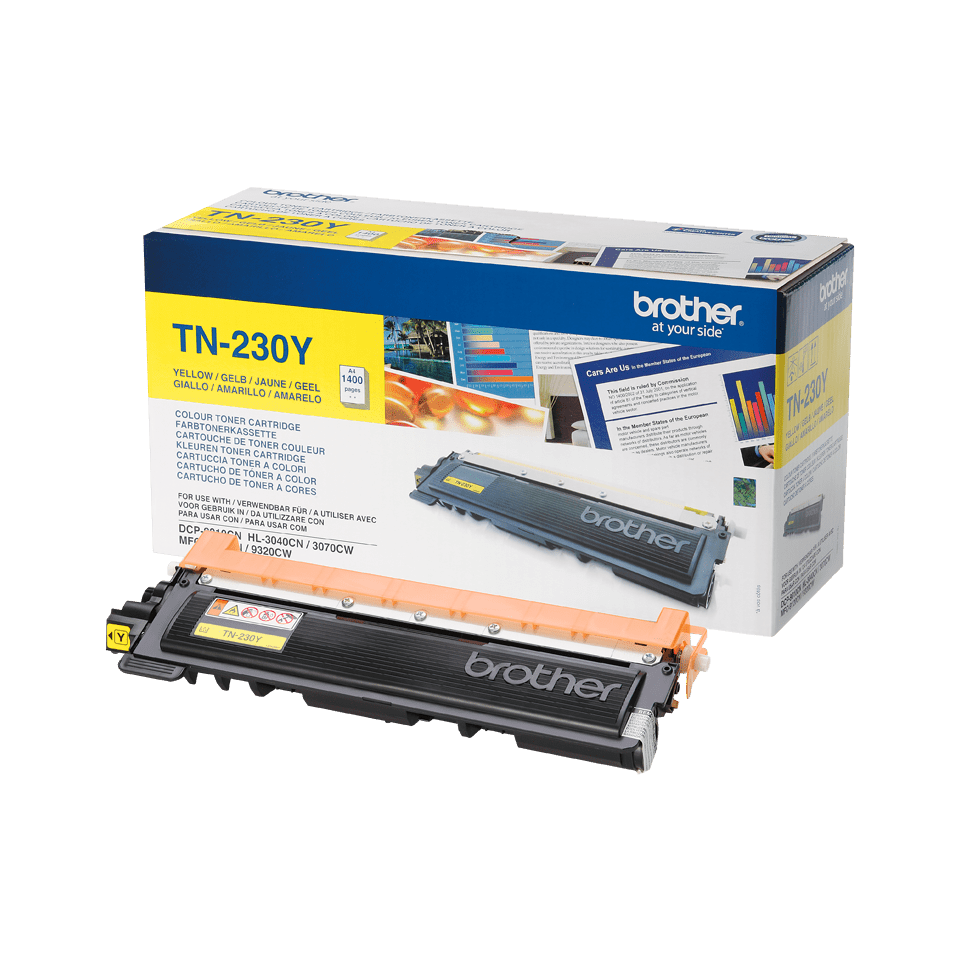 Originele Brother TN-230Y gele tonercartridge 2