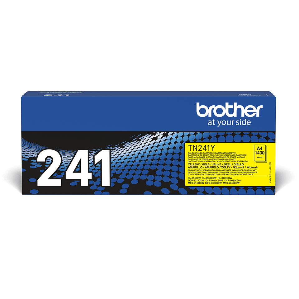 Originele Brother TN-241Y gele tonercartridge 2