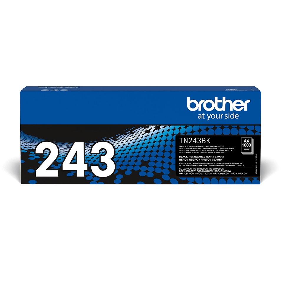 Originele Brother TN-243BK zwarte tonercartridge 2