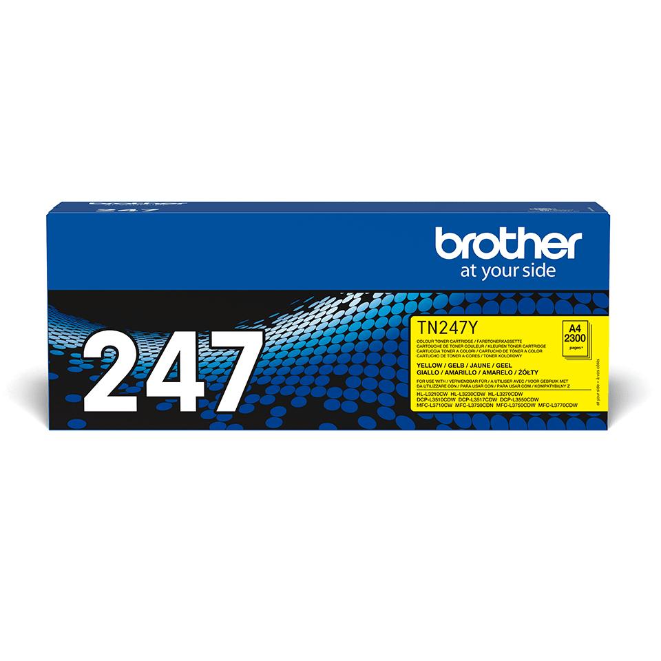 Originele Brother TN-247Y gele tonercartridge met hoge capaciteit