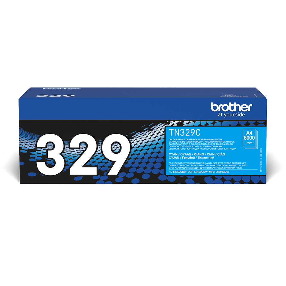 Originele Brother TN-329C cyaan tonercartridge