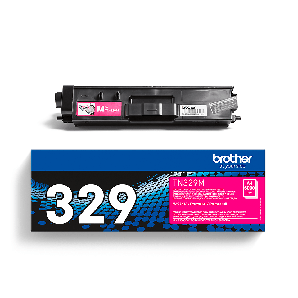Originele Brother TN-329M magenta tonercartridge 2