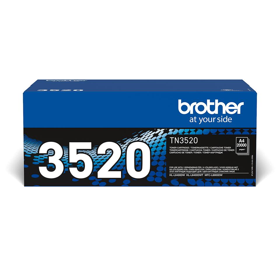 Originele Brother TN-3520 zware tonercartridge met ultra hoge capaciteit
