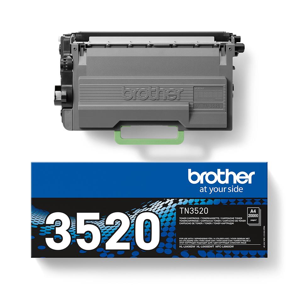 Originele Brother TN-3520 zware tonercartridge met ultra hoge capaciteit 2