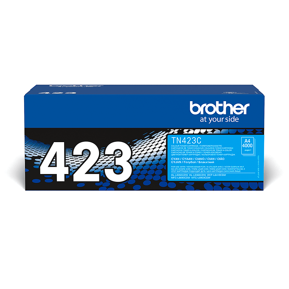 Originele Brother TN-423C cyaan tonercartridge 2
