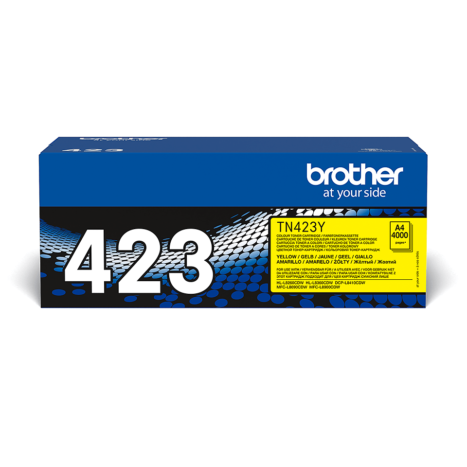 Originele Brother TN-423Y gele tonercartridge 2