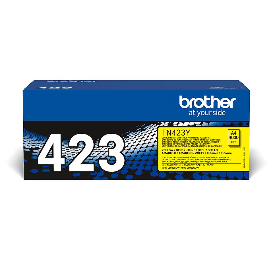Originele Brother TN-423Y gele tonercartridge 2