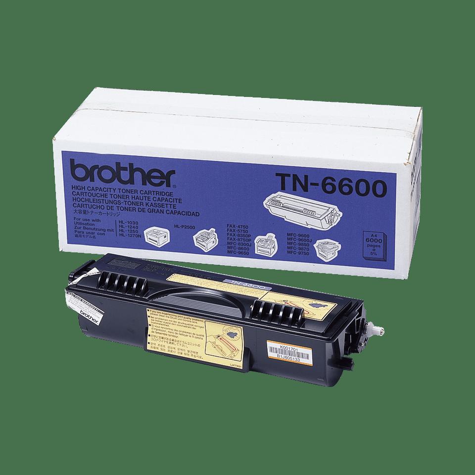 Originele Brother TN-6600 zwarte tonercartridge met hoge capaciteit