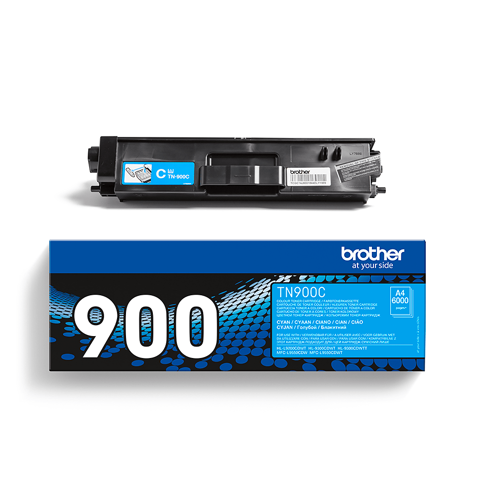 Originele Brother TN-900C cyaan tonercartridge 2