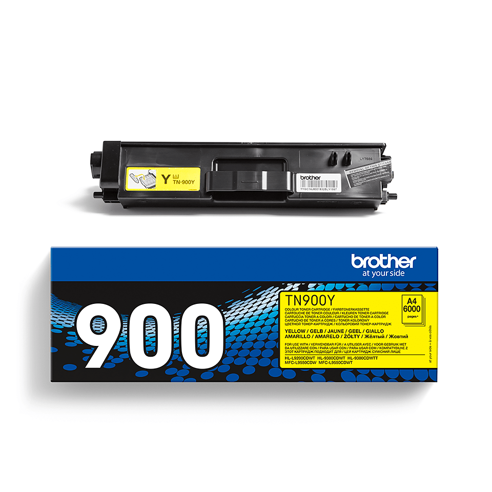 Originele Brother TN-900Y gele tonercartridge