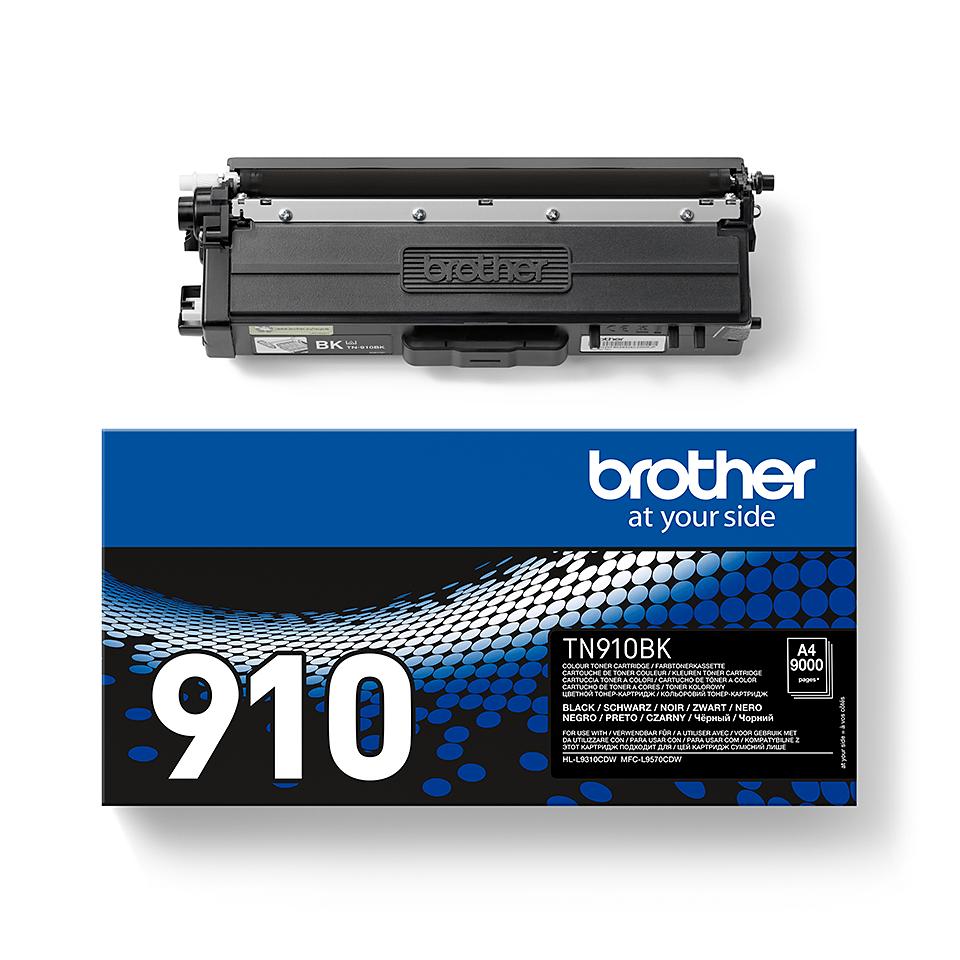 Originele Brother TN-910BK zwarte tonercartridge 2