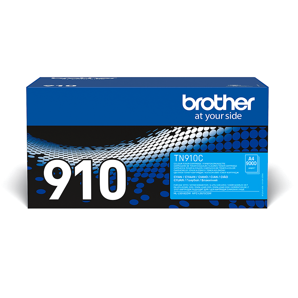 Originele Brother TN-910C cyaan tonercartridge