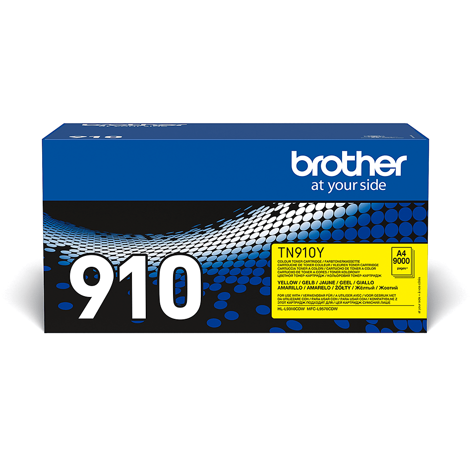 Originele Brother TN-910Y gele tonercartridge 2