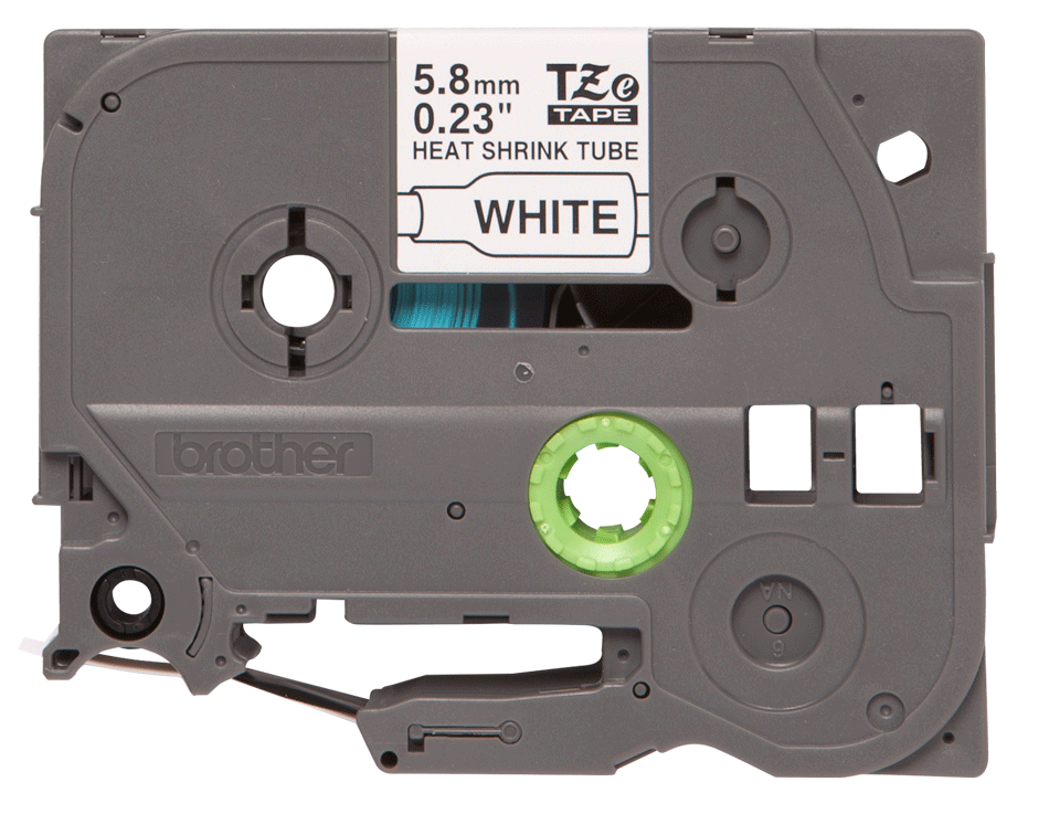 Originele Brother HSe-211 krimpkous tapecassette – zwart op wit, breedte 5,8 mm 2