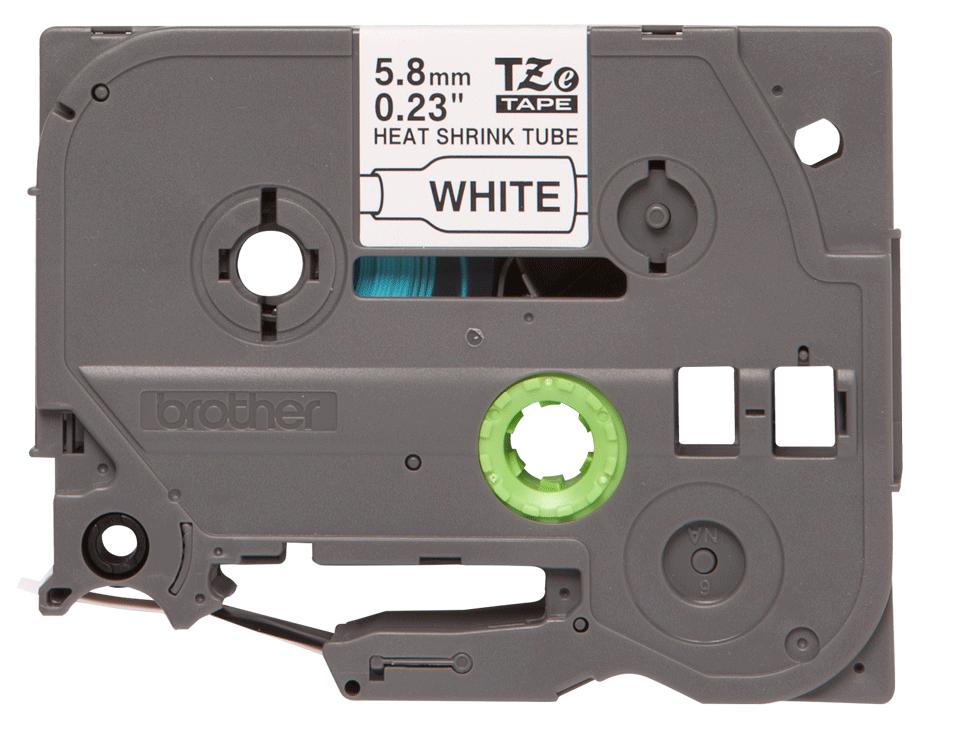 Originele Brother HSe-211 krimpkous tapecassette – zwart op wit, breedte 5,8 mm