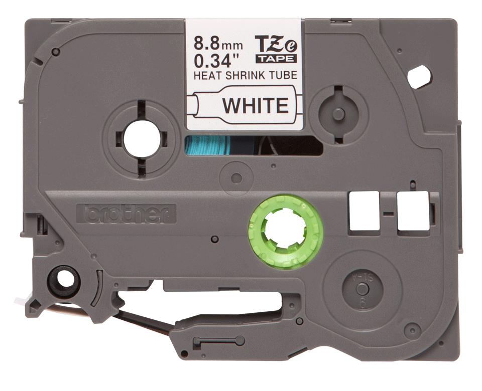 Originele Brother HSE-221 krimpkous tapecassette - zwart op wit, breedte 8,8 mm 2